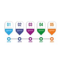 Infographics timeline elements vector