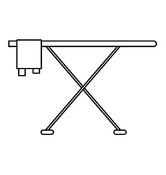 ironing board icon outline style vector image
