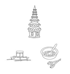 Isolated object balinese and caribbean symbol vector