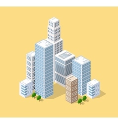 Isometric 3D city vector