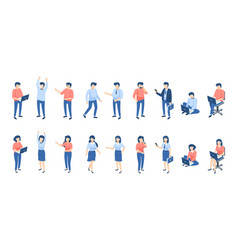 isometric people male and female persons vector image