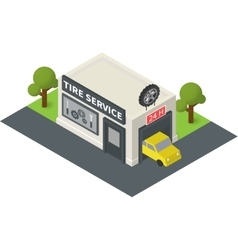 isometric tire service vector image
