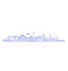 italy skyline country buildings linear art vector image