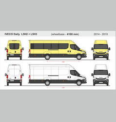 Iveco daily van l5h2 and l5h3 2014-2019 vector