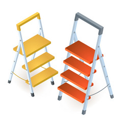 ladder isometric construction tools isolated on a vector image
