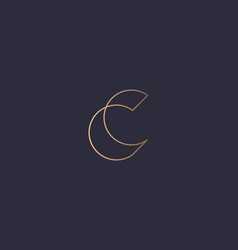 Letter c logo monogram minimal style identity vector