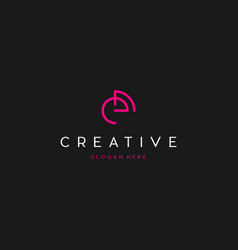 Letter e line creative business logo design vector