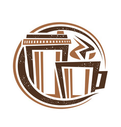Logo for coffee drink vector