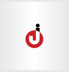 Logo letter j symbol vector