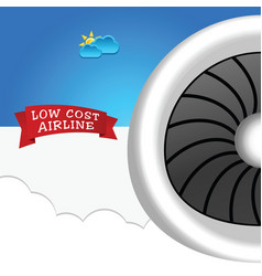low cost airline icon vector image