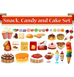 Many kind snack and candy vector