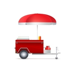 Mobile fast food shop vector