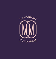 monogram mm vector image
