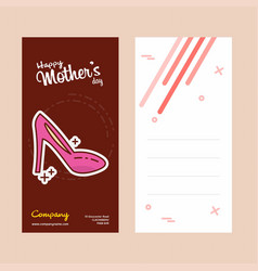 Mothers day card with scandal logo and pink theme vector