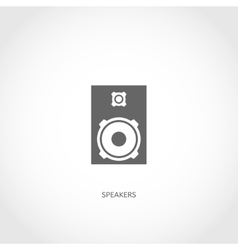 Musical instrument loudspeakers flat icon vector