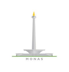 National monument monas vector