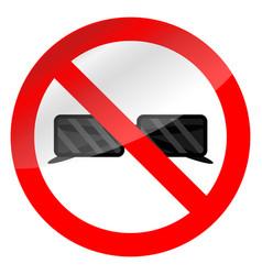 No glasses symbol vector
