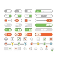 On and off toggle switches elements of user vector image