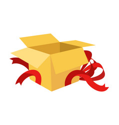 open gift box isolated holiday cardboard box vector image