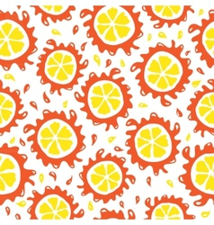 Organic food background oranges seamless pattern vector