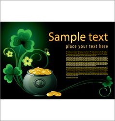 patrick day background with pot vector image vector image