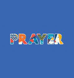prayer concept word art vector image