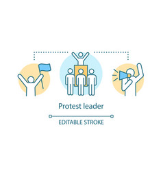 Protest leader concept icon public demonstration vector
