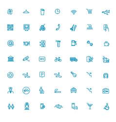 public place navigation icons vector image