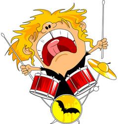 Rock drummer vector