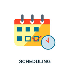 Scheduling flat icon color simple element from vector