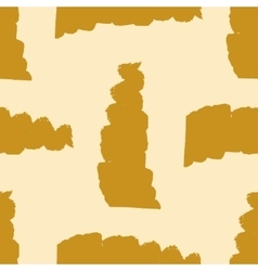 Seamless pattern with gold brush strokes vector