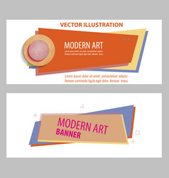 Set abstract design banner template vector