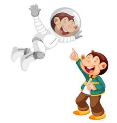 Set monkey cartoon character vector