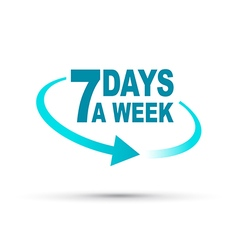 seven days blue vector image