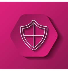 shield icon image vector image vector image