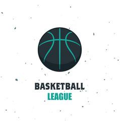 Silhouette of basketball ball basketball logo vector