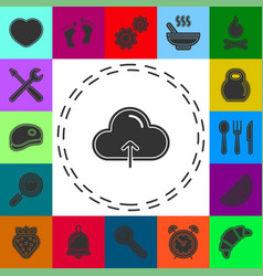 Simple cloud upload icon vector