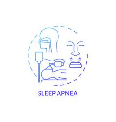 Sleep apnea blue gradient concept icon vector