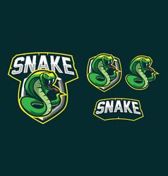 Snake mascot logo design vector