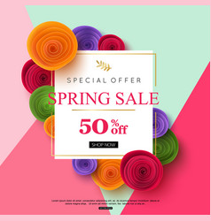 Spring sale banner design vector