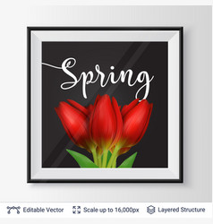 spring season flowers and text vector image