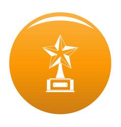 Star award icon orange vector