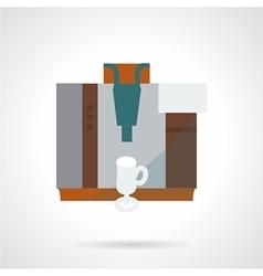 Stylish flat icon for coffee machine vector