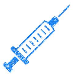 syringe grunge icon vector image