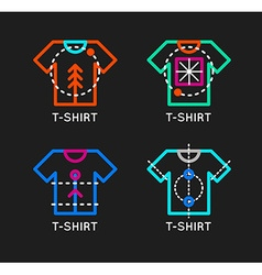 t-shirt logo set Online shop logo Clothing shop vector image