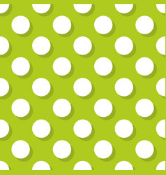 tile pattern with white polka dots vector image