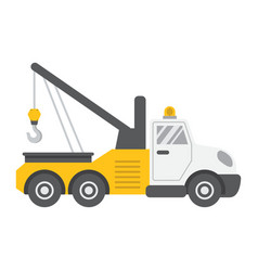 Tow truck flat icon transport and vehicle vector