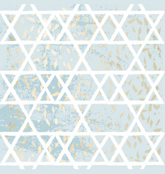 trendy chic pastel gold foil light blue background vector image