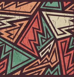 tribal grunge pattern vector image