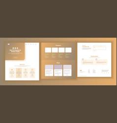 website design template business vector image